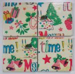 4 Ceramic Coasters in Cath Kidston Christmas Print